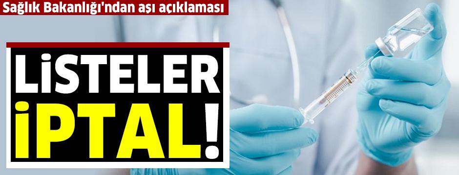 Sağlık Bakanlığı'ndan son dakika aşı açıklaması