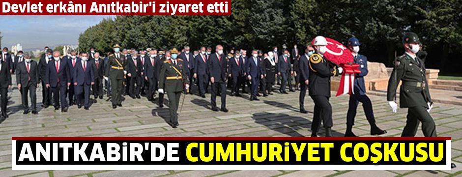 Anıtkabir'de Cumhuriyet coşkusu