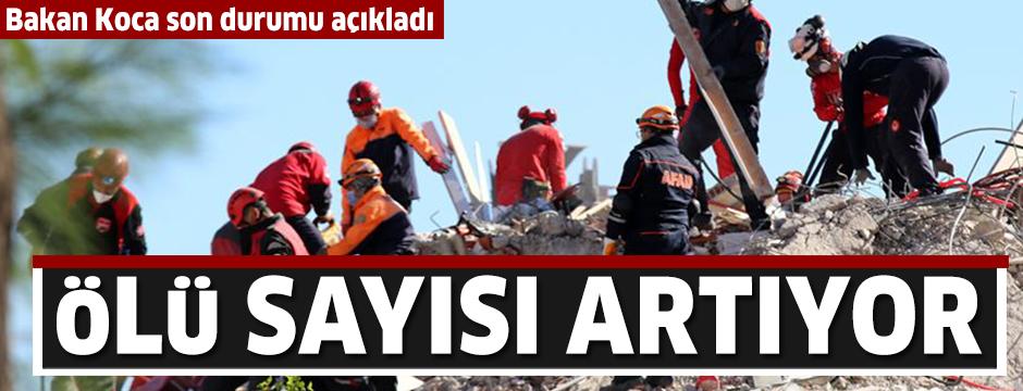 Sağlık Bakanı Koca: Depremde hayatını kaybedenlerin sayısı 35'e yükseldi