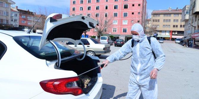 Araçlara ücretsiz dezenfekte