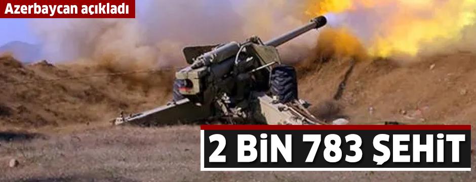 Azerbaycan, Dağlık Karabağ Savaşı'nın bilançosunu açıkladı: 2 bin 783 şehit