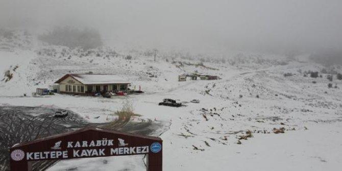 Karabük'te kayak merkezi beyaza büründü
