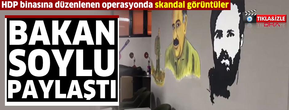 Bakan Soylu, HDP Esenyurt binasına düzenlenen operasyonun görüntüsünü paylaştı