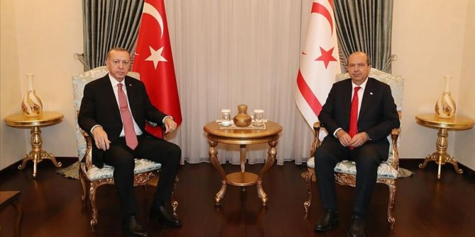 Cumhurbaşkanı Erdoğan, KKTC Cumhurbaşkanı Tatar'la telefonda görüştü