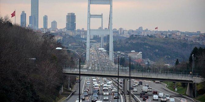 İstanbul'da haftanın ilk iş gününde trafik yoğunluğu arttı