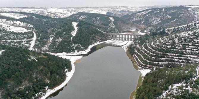 Kar yağışının ardından İstanbul'a su sağlayan barajlardaki doluluk oranı artıyor