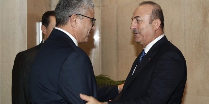 Dışişleri Bakanı Çavuşoğlu, Libya İçişleri Bakanı Başağa'yla görüştü