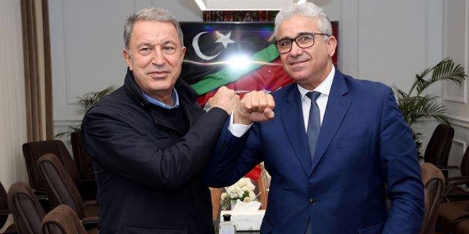 Bakan Akar, Libya İçişleri Bakanı ile görüştü