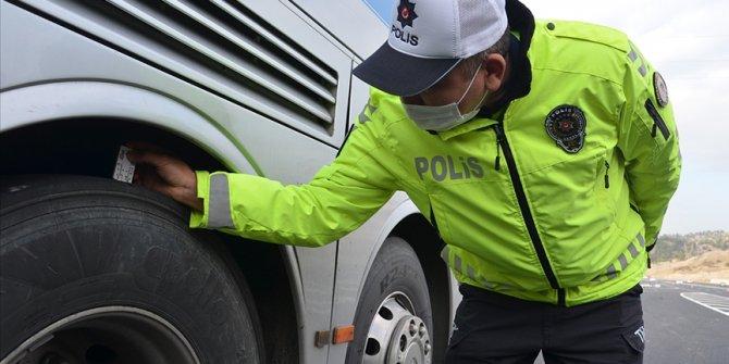 Kış lastiği kullanılmayan 511 araca ceza kesildi