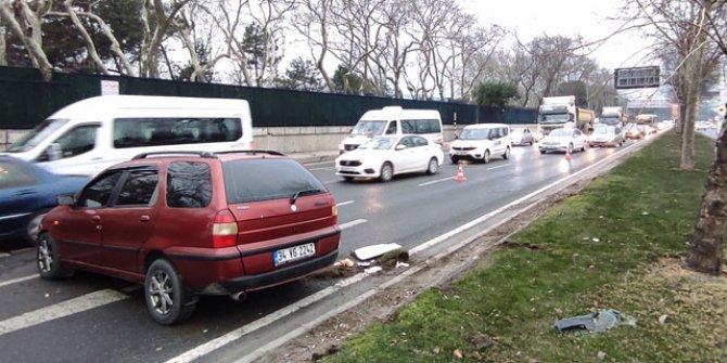 Maslak'ta trafiği kilitleyen kaza