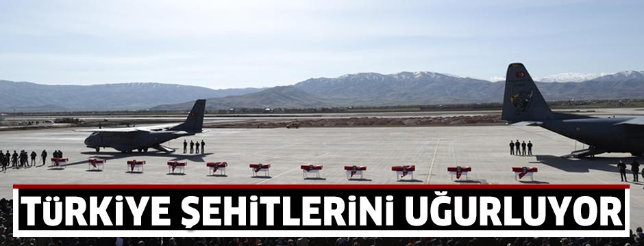 Şehit 11 asker için Elazığ'da cenaze töreni düzenlendi
