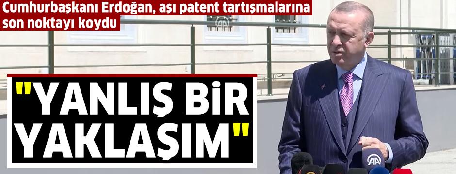 Cumhurbaşkanı Erdoğan: (Yerli aşı) Sadece ülkemiz için değil, tüm dünyayla paylaşmaya hazırız