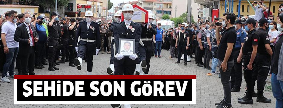 Şehit polis memuru Ercan Yangöz son yolculuğuna uğurlandı