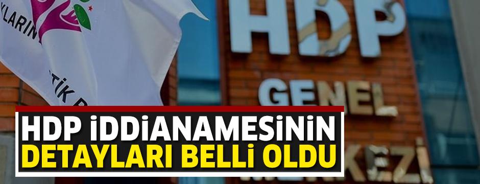 HDP iddianamesinin detayları belli oldu