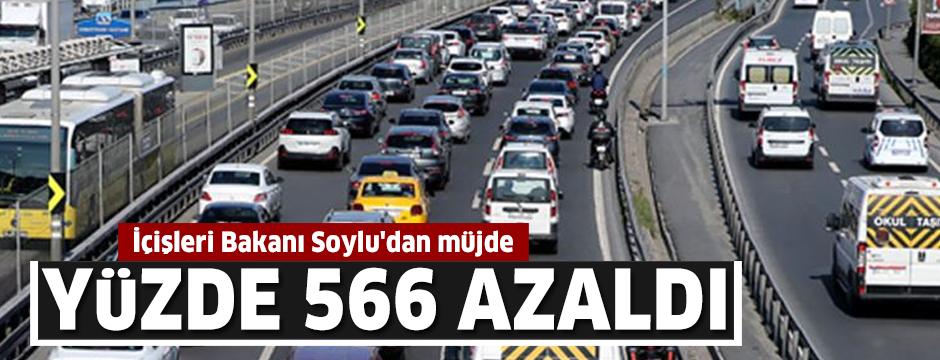 İçişleri Bakanı Soylu'dan müjde! Yüzde 566 azaldı
