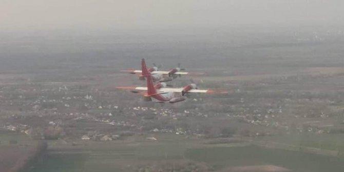 Azerbaycan ve Ukrayna'dan Türkiye'ye destek: Uçaklar yola çıktı