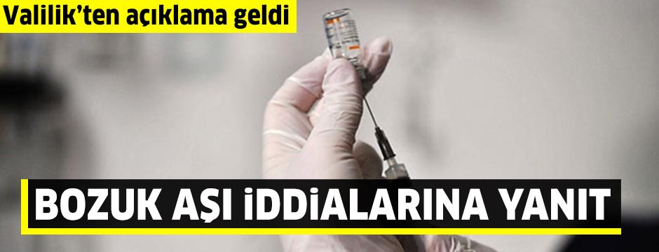 Zonguldak'ta 'bozuk aşı' iddialarına valilikten açıklama