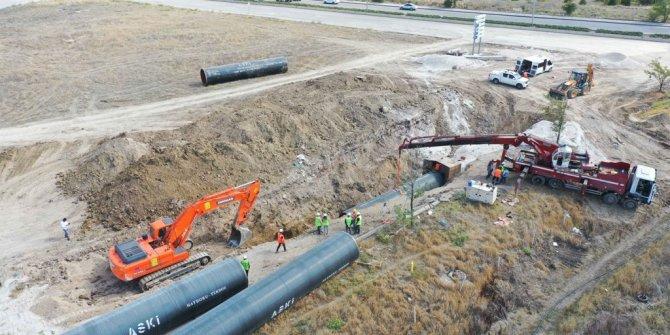İvedik-Polatlı içme suyu projesi 21 km'si tamamlandı