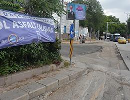Mamak Caddesi Üzerinde Süren Asfalt Çalışması Trafiğe Olumsuz Yansıdı