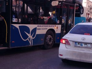Otobüs durağına park sorumsuzluğu