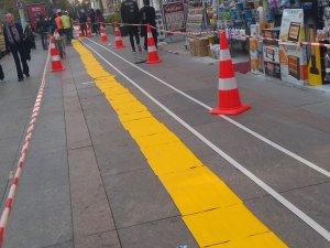 GMK'YA 500 metre sarı şerit
