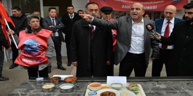 Vergi dairesi çalışanlarından yemek zammına tepki