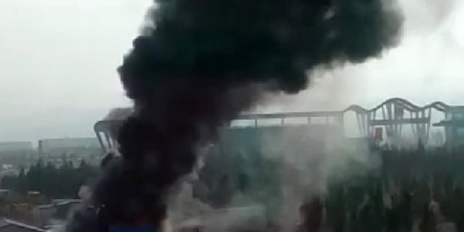 Ankara'da konteynerda korkutan yangın