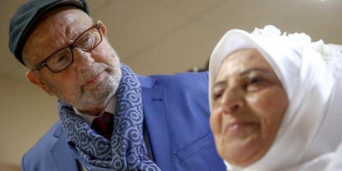 11 torunlu çift 62 yıl sonra nikah kıydı