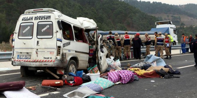Kahramanmaraş'ta feci kaza: 8 ölü