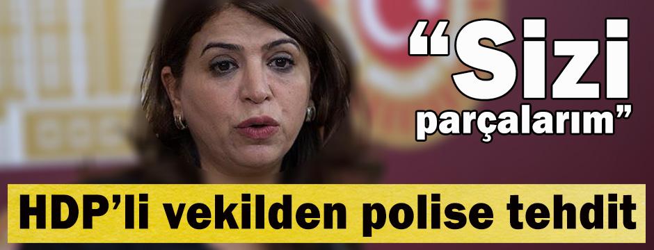 HDP'li vekilden polise tehdit: Sizi parçalarım