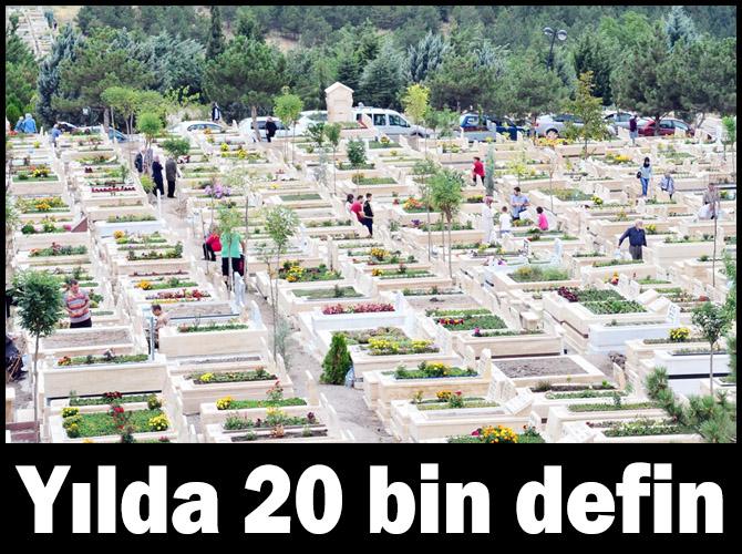 Ankara'da her yıl yirmi bin defin gerçekleşiyor