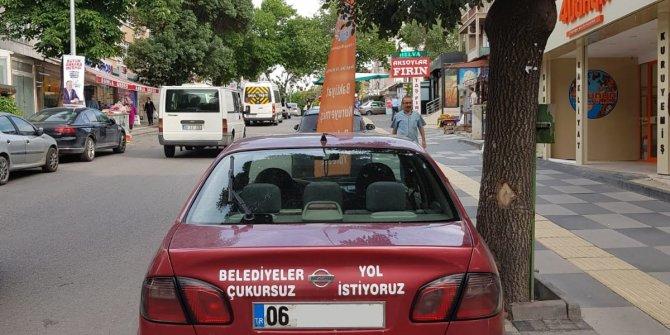 Ankaralı bir vatandaşın sıradışı yol tepkisi