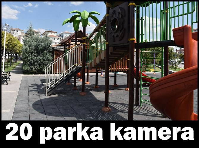 Başkent'teki parklara kamera ile koruma