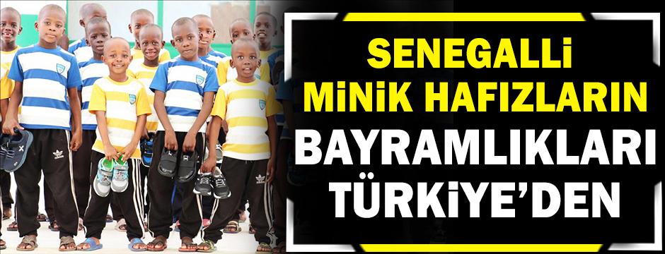 Senegalli minik hafızların bayramlıkları Türkiye'den