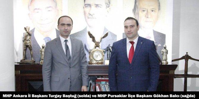 MHP Pursaklar'da bayrak değişimi