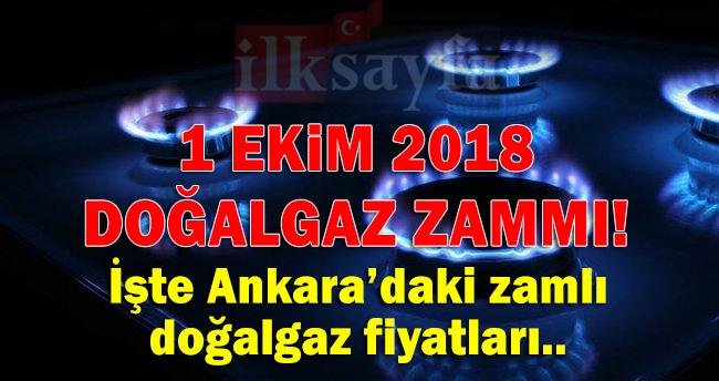 Ankara'da doğalgazın metreküp fiyatı ne kadar? 1 Ekim 2018 Doğalgaz zammı