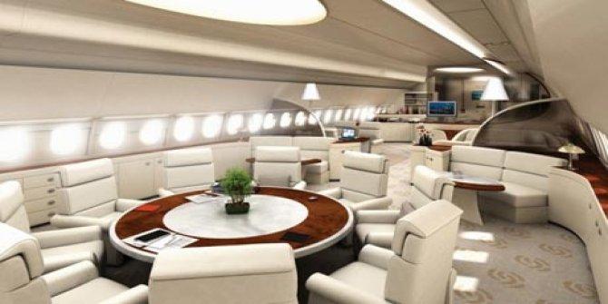 Cumhurbaşkanı Erdoğan'ın yeni uçağı Esenboğa'da