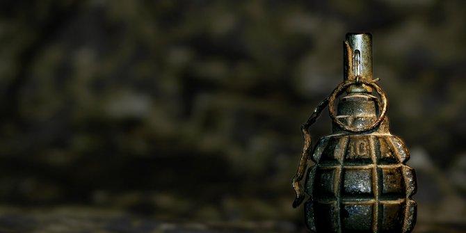 Pursaklar'da gömülü halde el bombası bulundu