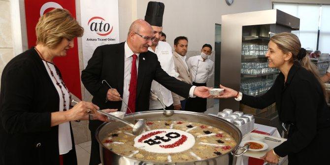 ATO Başkanı Baran aşure dağıttı