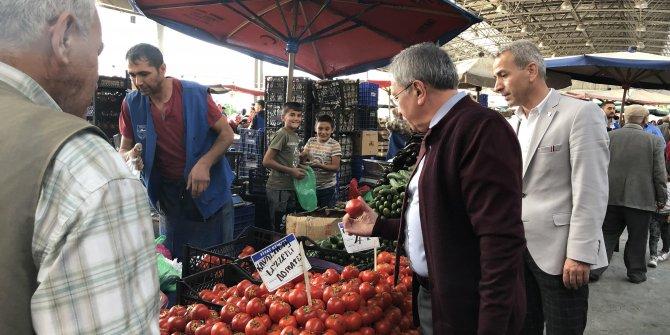 Başkan Çetin fiyatları bizzat denetledi
