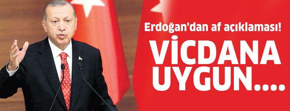 Erdoğan'dan yeni af açıklaması! Vicdana uygun....
