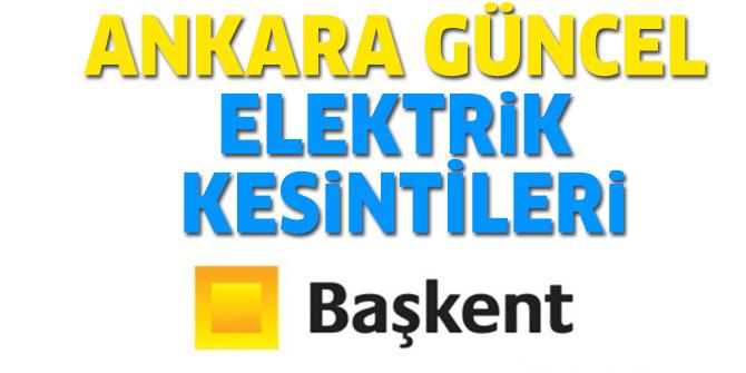 Ankara Elektrik Kesintisi 22 Eylül 2019 - Başkent EDAŞ