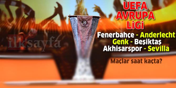 8 Kasım 2018 UEFA Avrupa Ligi maçları (Fenerbahçe, Beşiktaş, Akhisarspor)