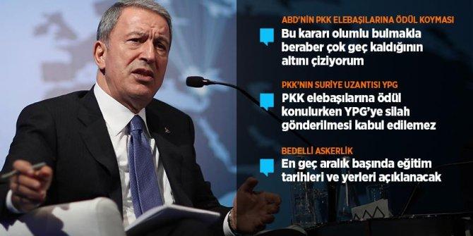 Milli Savunma Bakanı Akar'ın gündeme ilişkin kritik açıklamaları!