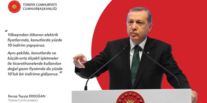 Erdoğan müjdeyi verdi: Yıl başından itibaren indirim geliyor