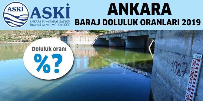 Ankara Baraj Doluluk Oranları ve Su Seviyesi - ASKİ 12 Ocak 2019