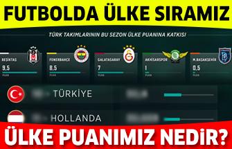 Türkiye ülke puanı klasmanındaki yerini sağlama aldı