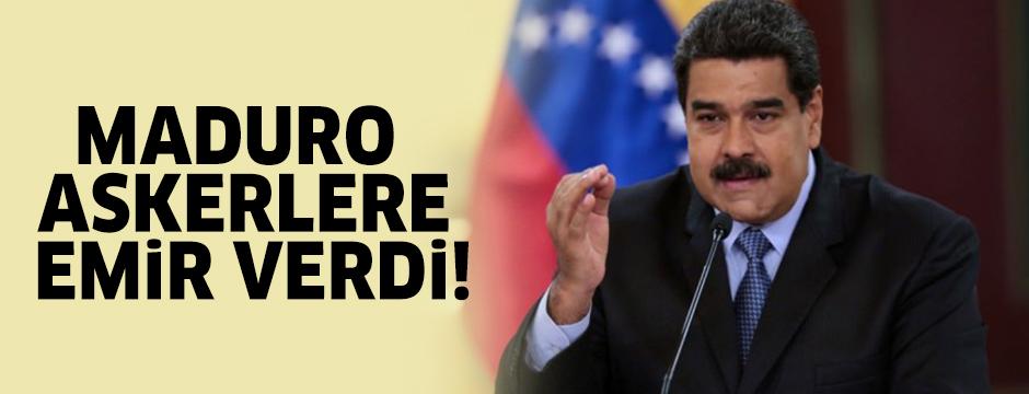 Maduro askerlere emir verdi!