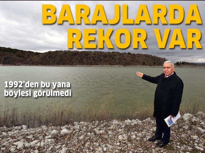 Ankara'da bol kar yağışı, barajlara yaradı