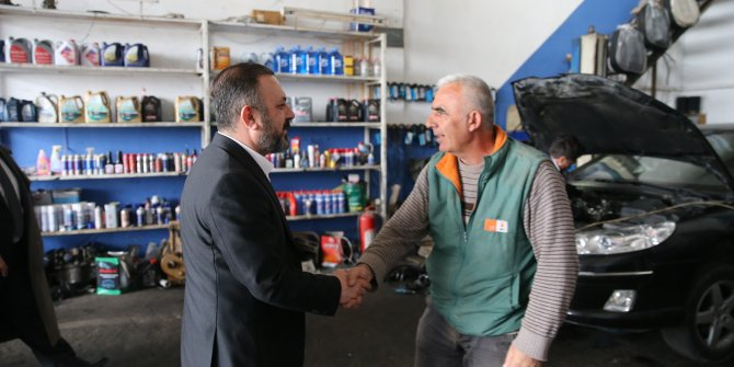 Murat Ercan, Temelli'de vatandaşla buluştu